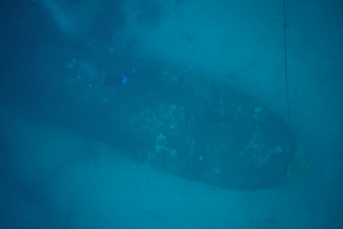 The Bahagian wreck from the surface
